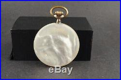 Antique Breguet Mother Of Pearl Case Pocket Watch #ws506