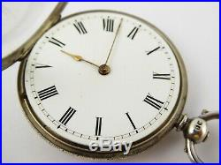 Antique Fancy All over Floral Cased 1882 Sterling Silver Hallmarked Pocket Watch
