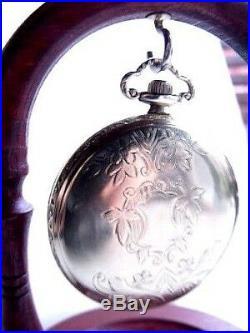 Antique Gold Fill Elgin Pocket Watch 15 Jewels Art Deco 1920 Ornate Case