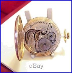 Antique Gold Fill Full Hunter Elgin Pocket Watch Ornate Case 1905 Fwo