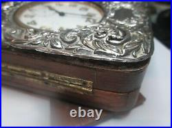 Antique Goliath 8-Days Pocket. And silver hallmarked front outer case