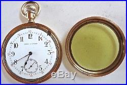 Antique Harris & Esterly Vacherone Gold-Filled Pocket Watch Swing-Out Case 21j