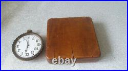 Antique Heavy Brass Goliath Cased Travelling Swiss 8 Day Pocket Watch