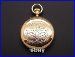 Antique Henry Capt Geneve 18k Yellow Gold Hunting Case Pocket Watch 38235