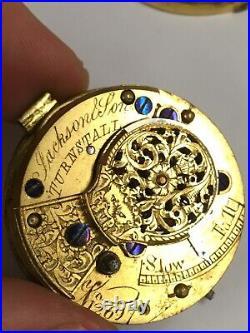 Antique Horn Case Verge Fusee Pocket Watch Spares Or Repair Plz Read