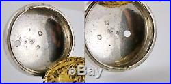 Antique Ottoman Empire George Prior Tripple Case Silver Fusee Pocket Watch 1762