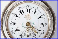 Antique Pocket Watch J. Dent London Silver Case 0.800 Key Wind Ottoman/turkey