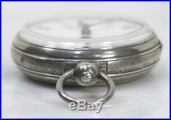 Antique SIR JOHN BENNETT London Pocket Watch. Sterling Silver Case. Works RARE
