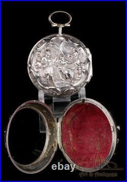 Antique Tarts Triple-Case Verge Fusee Silver Pocket Watch. Calendar. 1779