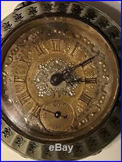 Antique Very Ornate Pocket Watch In Its Original Case