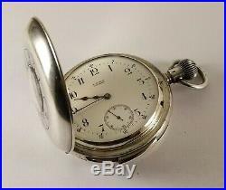 Antique Waltham 5 Minute Repeater Pocket Watch British Silver Demi Hunter Case
