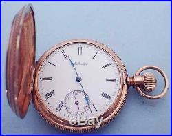 Antique Waltham 8s 7j William Ellery Keywind Pocket Watch 14k Solid Gold Case