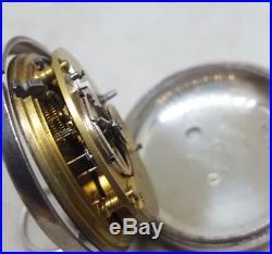 Antique solid silver pair cased fusee George Shepherd Ellon pocket watch 1878