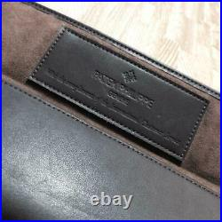 Authentic PATEK PHILIPPE Watch Brown Leather Travel Pouch Case VIP Limited #0938