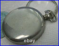 Ball Official Standard Pocket Watch Keystone Silveroid Case 16 Size With Dial