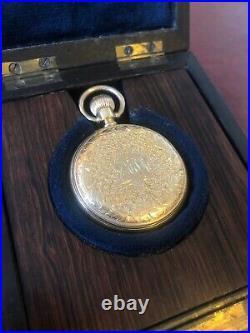 Beautiful 18ct Patek Philippe Full Hunter Engraved Case Pocket Watch