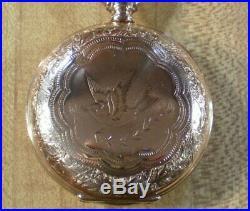 Beautiful 18s Waltham Vanguard 21j Gold Filled Hunting case Pocket Watch 1895