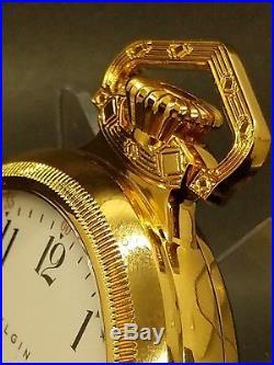 BiG 18s Elgin Men's Pocket Watch Antique in Mint Display Case! Stunner