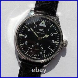 Big Swiss Mechanical Military Marriage Wristwatch Schaffhausen Steel Case Pilots