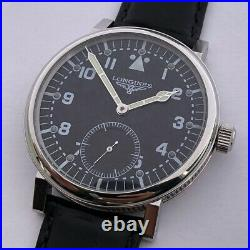 Big Swiss Mechanical Military Marriage Wristwatch Steel Case Aviator Pilots WW2