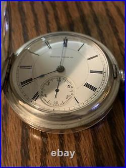 Boston Watch Co, 18S, 15j, 1882 C, 3.0 Oz. Hunter Coin Case, Running, Stunning