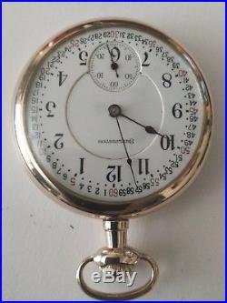 Burlington 16 size 19 jewels Montgomery dial Railroad gold filled case restored