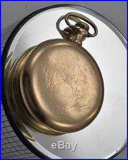 Burlington Special Gold Filled Back Case Vintage Pocket Watch Nice Shape