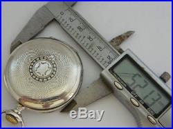 CASSA orologio da tasca in argento ZENITH silver pocket watch CASE B425