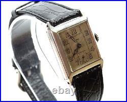 CYMA Retro Art Deco Tank-Styled Watch, Rare 900 Silver Case, Original Velvet Box