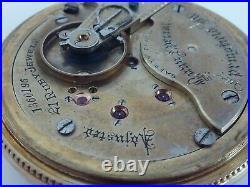 Classic 1897 ILLINOIS BUNN SPECIAL 21j RAILROAD 18sz Pocket Watch with 10K GF CASE