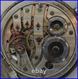 Cronometro Escasany Pocket watch silver & niello hunter case 52 mm. In diameter