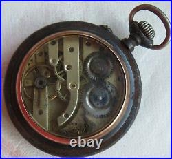 Digital Type Pocket Watch open face gun case 55 mm. In diameter