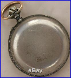Digital Type Rare Pocket Watch Gun Case Open Face 52 mm. In diameter