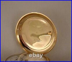 ELGIN B. W. RAYMOND 15j 14k GOLD FILLED BOX HINGE HUNTER CASE 18s POCKET WATCH
