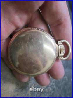 ELGIN B W RAYMOND 21J RAILROAD MENS FANCY CASE RUNNING Pocket Watch