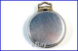 EXCELLENT Hamilton 992 E Elinvar Pocket Watch With Bar Over Crown Case RUNS