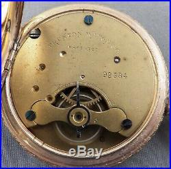 Early Trenton Model 2 Hunting Case Pocket Watch, Scarce