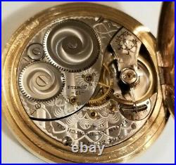 Elgin 12S. 17J. Mint fancy dial grade 344 (1912) near mint G. F. Hunter case
