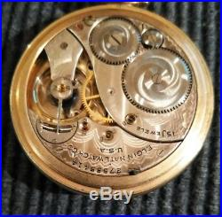 Elgin 12s. Great fancy dial 15 jewels (1925) new old stock case restored