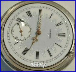Elgin 16S (1918) Father Time 21 jewels adj. Mint fancy dial Sterling silver case