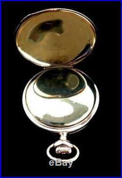 Elgin 16 Size 17J Fancy Extra Fancy Dial and hands Hunter Case Near Mint