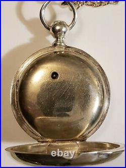 Elgin 18 size 11 jewel Key Wind grade 87 coin silver case (1883) pocket watch