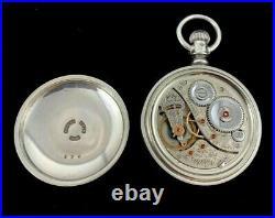 Elgin 18s 23 J Veritas M# 214 Railroad Coin Silver Case Extra Fine+ Condition
