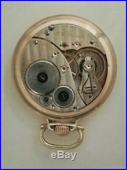 Elgin (1924) B. W. Raymond adj. 21 jewels railroad watch 14K. Gold filled case
