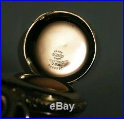 Elgin 6 size (1905) Very fancy dial 7 jewels super 14K. Gold filled hunter case