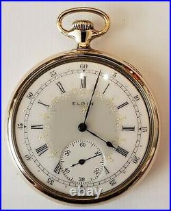 Elgin B. W. Raymond 12S. 19J. High Grade 193 fancy dial (1914) 10K. G. F Elgin case