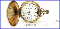 Elgin Co Pocket Watch Convertible in 10k Gold Filled Box Hinge Drum Style Case