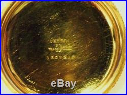 Elgin Father Time 18s 21 Jewel Grade 252 Pocket Watch Gold Filled Hinged Case
