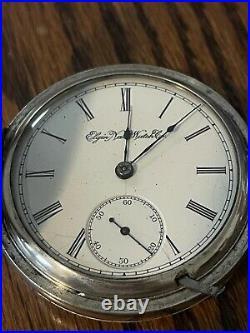 Elgin Hunter Pocket Watch, 1893-C, 18S, 15J, serviced, running, 3.0Oz. Coin case