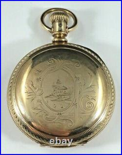 Elgin Men's Pocket Watch, Parts or Repair, Case Marked Lion Warranted, 18s, 96